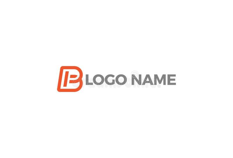 Διανυσματικό σχέδιο λογότυπων αλφάβητου Β διανυσματική απεικόνιση