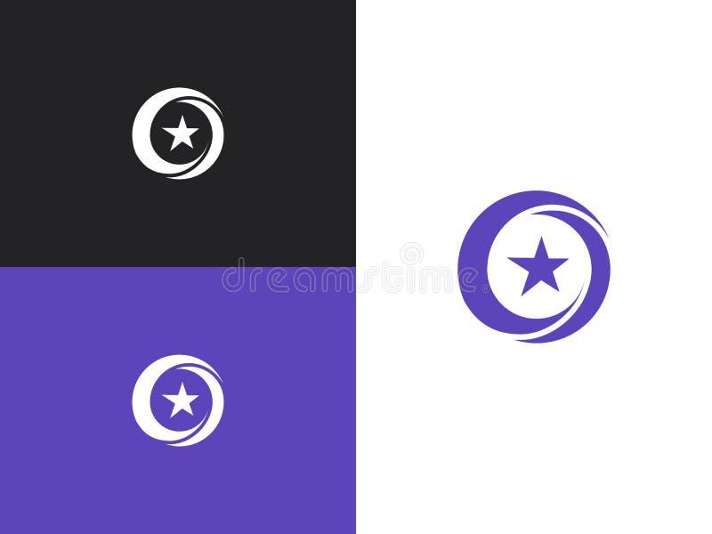 Διανυσματικό σχέδιο λογότυπων αστεριών που μαρκάρει την εταιρική ταυτότητα ελεύθερη απεικόνιση δικαιώματος