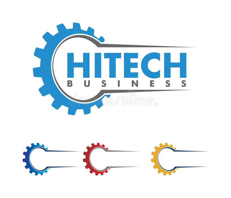 Διανυσματικό σχέδιο λογότυπων για την αυτοκίνητη επιχείρηση, τεχνική βιομηχανία, συντήρηση αυτοκινήτων, έξυπνη μηχανή ιδέας, διανυσματική απεικόνιση