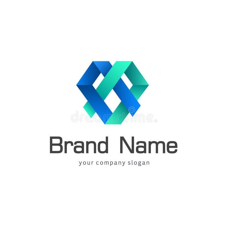 Διανυσματικό σχέδιο λογότυπων για την επιχείρηση ελεύθερη απεικόνιση δικαιώματος