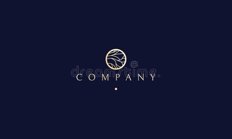 Διανυσματικό σχέδιο λογότυπων γιόγκας πολυτέλειας Jewelry Beauty Tree Spa διανυσματική απεικόνιση