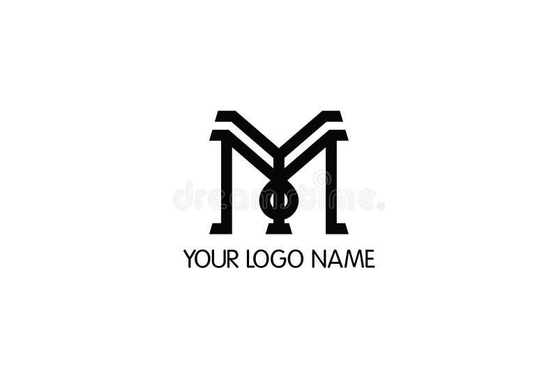 Διανυσματικό σχέδιο λογότυπων γραμμάτων Μ ελεύθερη απεικόνιση δικαιώματος