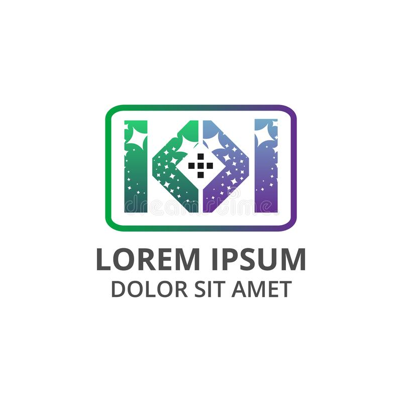 Διανυσματικό σχέδιο λογότυπων εικονιδίων υπηρεσιών καθαρισμού γραμμάτων Κ απεικόνισης διπλό απεικόνιση αποθεμάτων