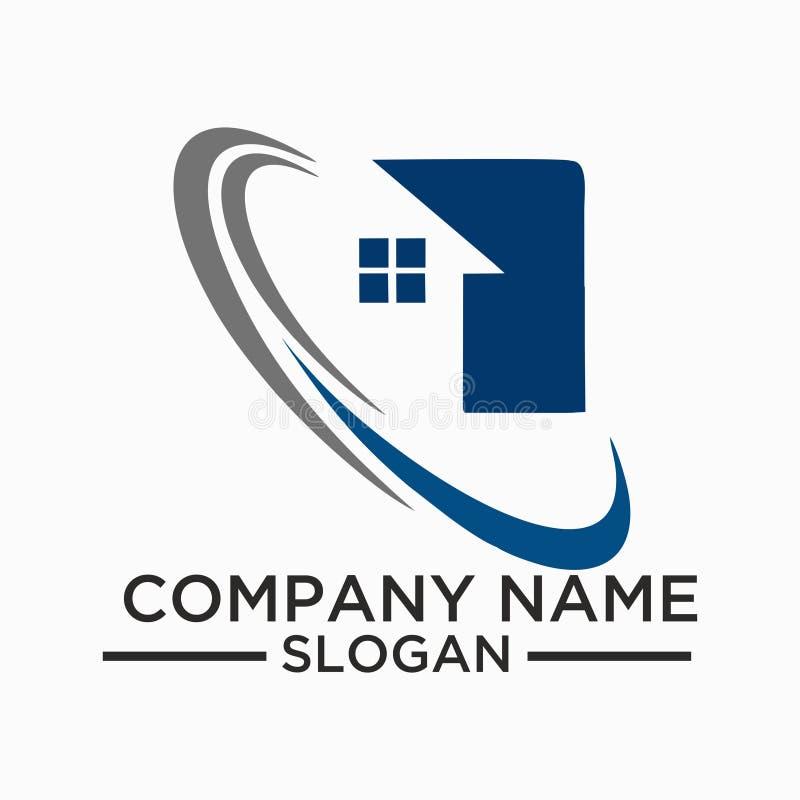 Διανυσματικό σχέδιο λογότυπων κτηρίου και οικοδόμησης Σχέδιο προτύπων λογότυπων ακίνητων περιουσιών για την επιχείρηση διανυσματική απεικόνιση