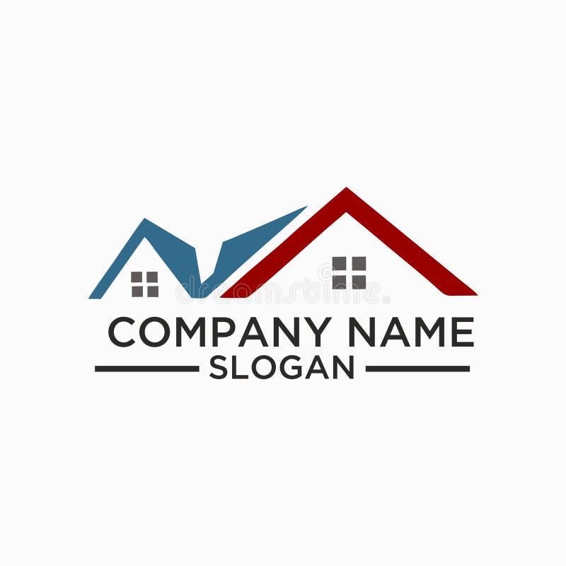 Διανυσματικό σχέδιο λογότυπων κτηρίου και οικοδόμησης Σχέδιο προτύπων λογότυπων ακίνητων περιουσιών για την επιχείρηση απεικόνιση αποθεμάτων