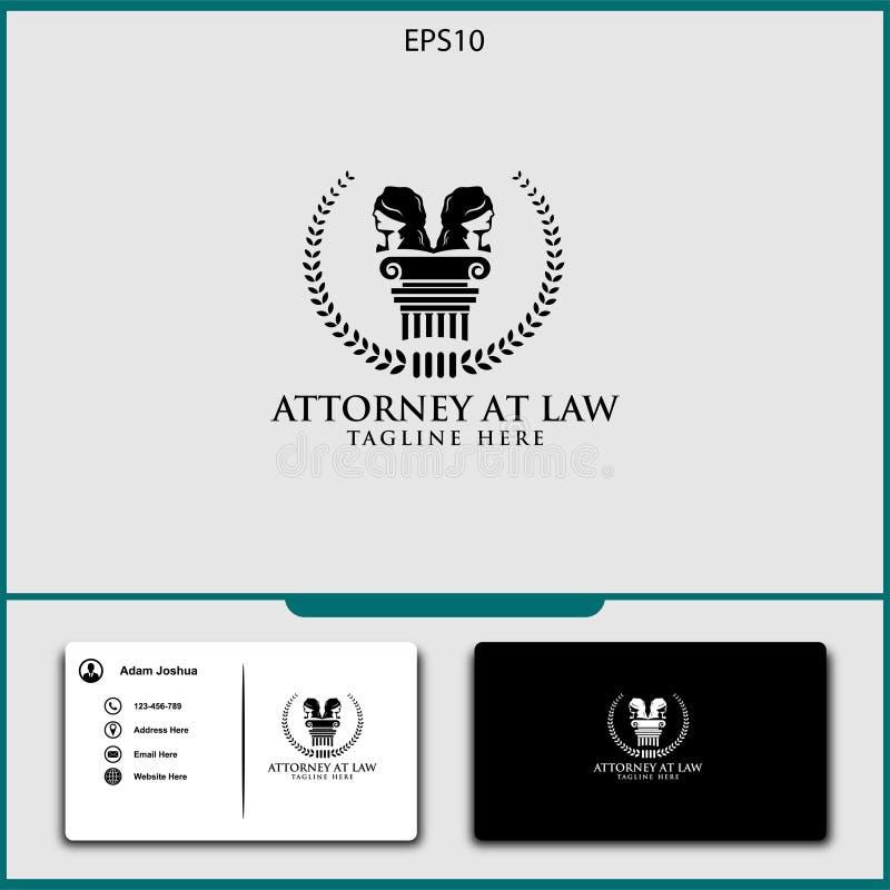 διανυσματικό σχέδιο λογότυπων πληρεξούσιων της διανυσματικής απεικόνισης δικαιοσύνης ελεύθερη απεικόνιση δικαιώματος