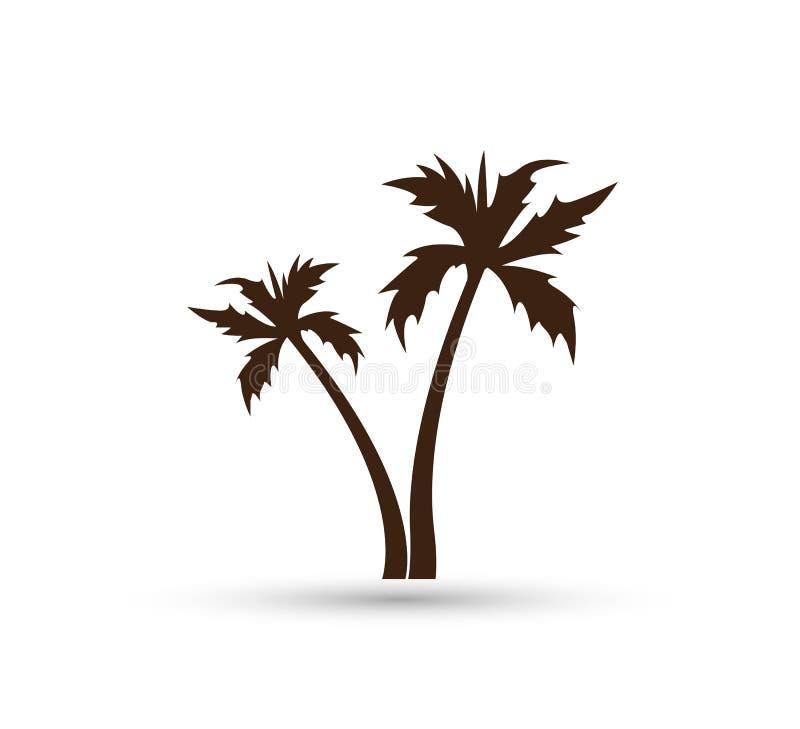 Διανυσματικό σχέδιο λογότυπων φοινίκων καρύδων θερινών παραλιών διακοπών τουρισμού ξενοδοχείων Ακτή, κομψή διανυσματική απεικόνιση