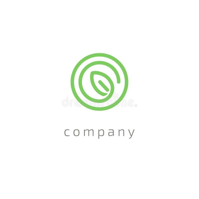 Διανυσματικό σχέδιο λογότυπων φύλλων δέντρων, φιλική προς το περιβάλλον έννοια Διανυσματικό floral σχέδιο λογότυπων καμπυλών απεικόνιση αποθεμάτων