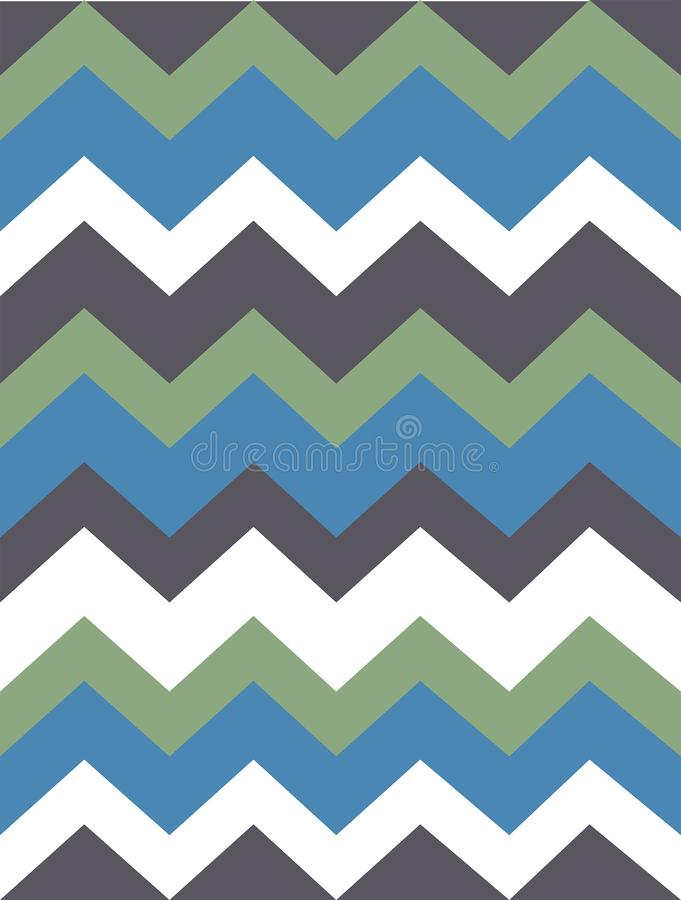 Διανυσματικό σχέδιο με τα γκρίζα, πράσινα, άσπρα, μπλε χρωματισμένα λωρίδες, τρέκλισμα Έγγραφο, σύσταση, υπόβαθρο ελεύθερη απεικόνιση δικαιώματος