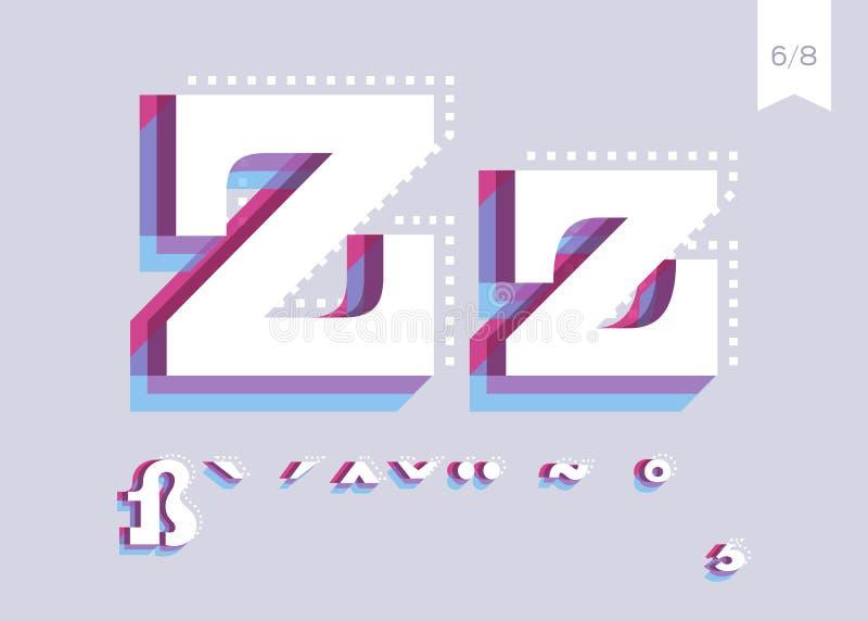 Διανυσματικό σχέδιο πηγών Δημιουργικός χαρακτήρας αφισών Αφηρημένος τύπος διανυσματική απεικόνιση