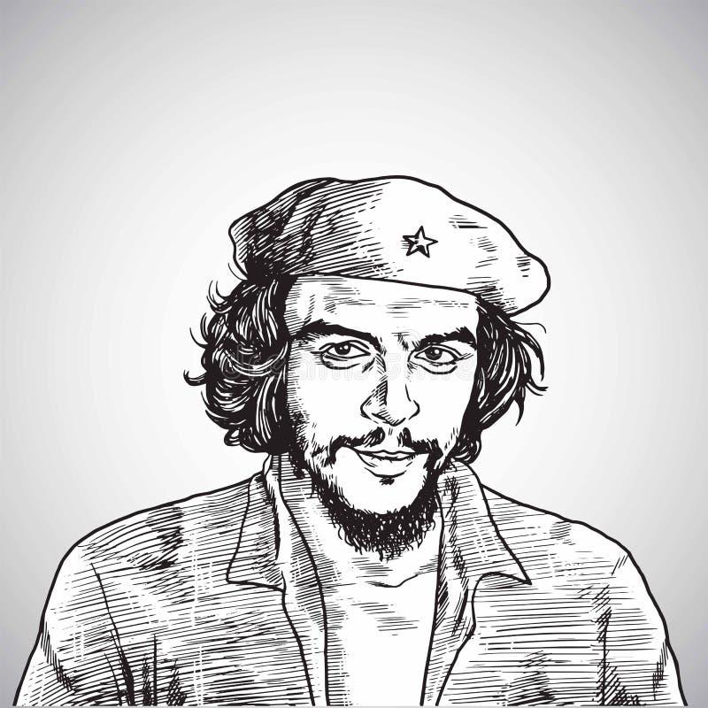 Διανυσματικό σχέδιο πορτρέτου Guevara Che 1 Νοεμβρίου 2017 απεικόνιση αποθεμάτων