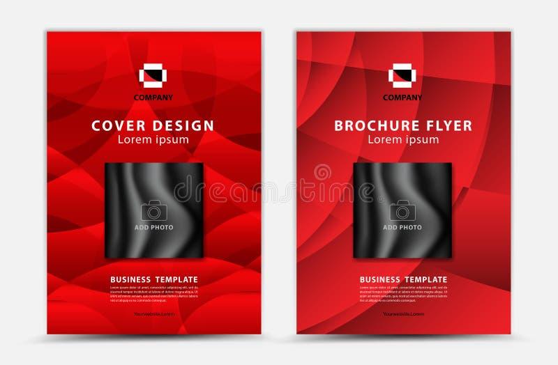 Διανυσματικό σχέδιο προτύπων κάλυψης, ιπτάμενο επιχειρησιακών φυλλάδιων, ετήσια έκθεση, αγγελία mgazine, διαφήμιση, σχεδιάγραμμα  ελεύθερη απεικόνιση δικαιώματος