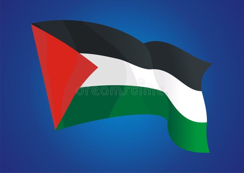 Διανυσματικό σχέδιο σημαιών της Παλαιστίνης απεικόνιση αποθεμάτων
