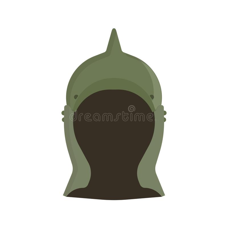 Διανυσματικό σχέδιο τεθωρακισμένων εικονιδίων πολεμικών κρανών Στρατιωτικό κεφάλι προστασίας στρατού αρχαίο Μεσαιωνική φρουρά μασ απεικόνιση αποθεμάτων