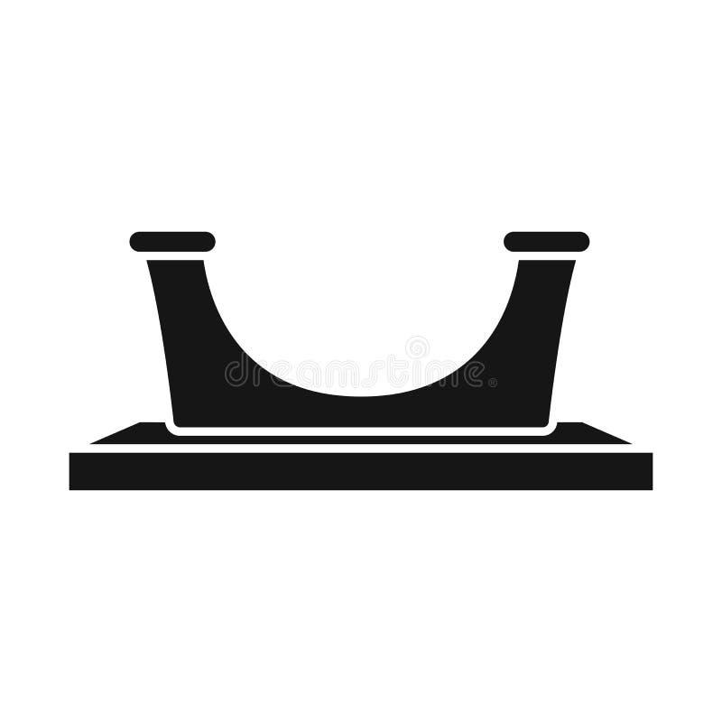 Διανυσματικό σχέδιο του λογότυπου εξοπλισμού και λιμενοβραχιόνων Συλλογή του συμβόλου αποθεμάτων εξοπλισμού και στυλίσκων για τον ελεύθερη απεικόνιση δικαιώματος