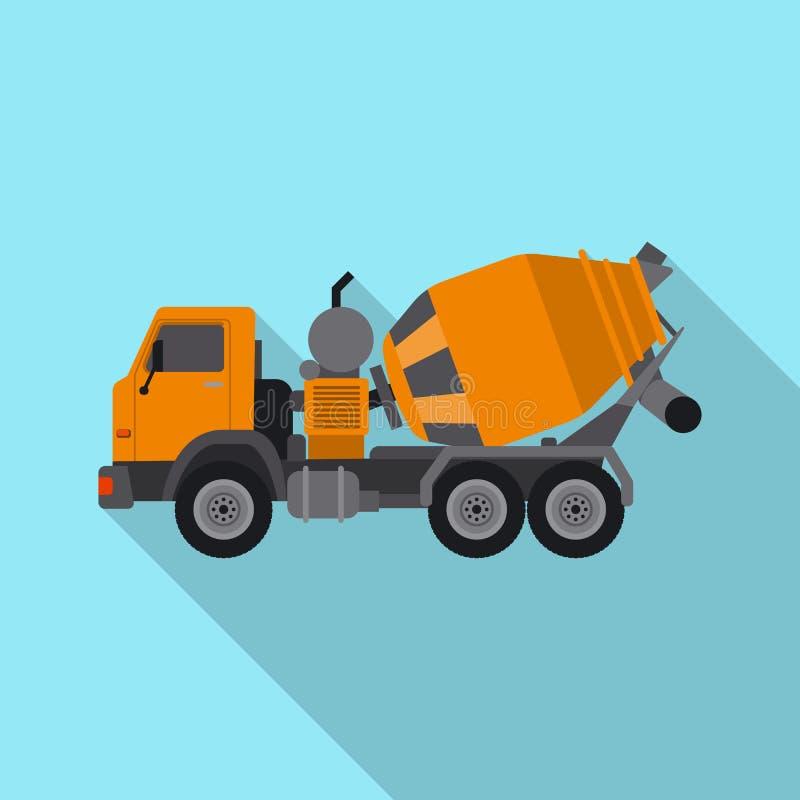 Διανυσματικό σχέδιο του συμβόλου κατασκευής και κατασκευής Σύνολο κατασκευής και διανυσματικού εικονιδίου μηχανημάτων για το απόθ διανυσματική απεικόνιση