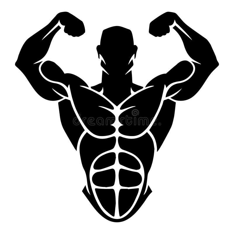 Διανυσματικό σχέδιο Bodybuilding ελεύθερη απεικόνιση δικαιώματος