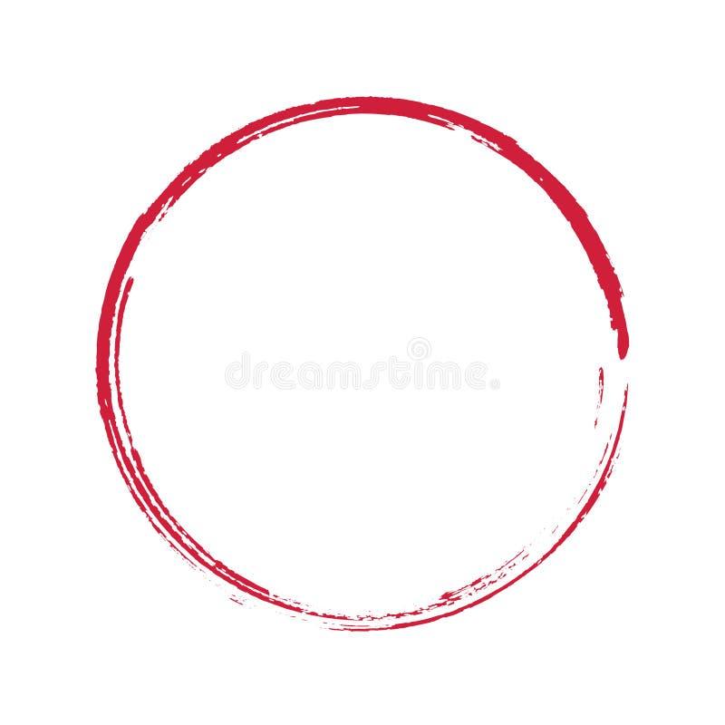 Διανυσματικό σχέδιο Enso συμβόλων της Zen διανυσματική απεικόνιση