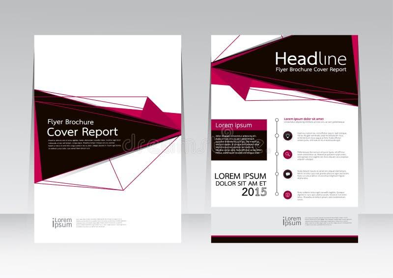 Διανυσματικό σχέδιο για την αφίσα ιπτάμενων φυλλάδιων εκθέσεων κάλυψης A4 στο μέγεθος ελεύθερη απεικόνιση δικαιώματος