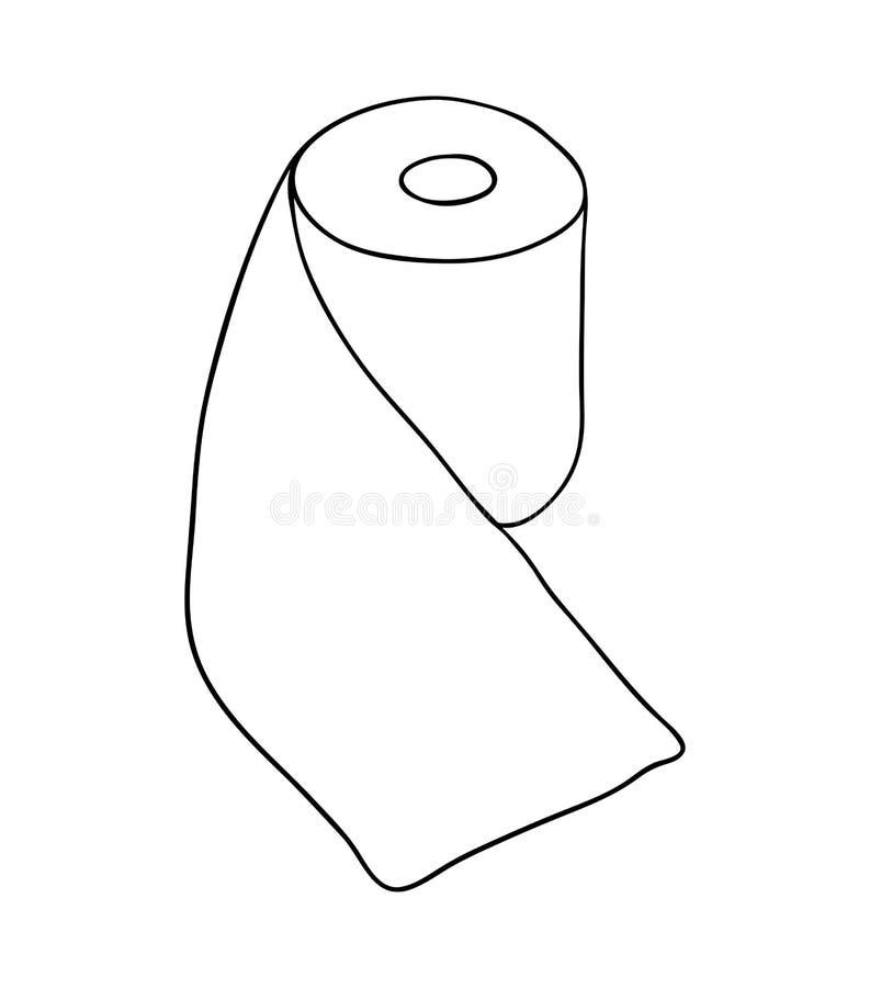 Διανυσματικό σχέδιο εικονιδίων συμβόλων ρόλων χαρτιού τουαλέτας Όμορφο illustrat διανυσματική απεικόνιση
