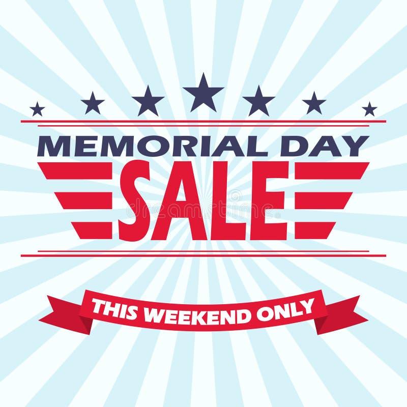 Διανυσματικό σχέδιο εμβλημάτων πώλησης ημέρας μνήμης Υπόβαθρο για την πώληση ημέρας μνήμης στοκ φωτογραφία με δικαίωμα ελεύθερης χρήσης