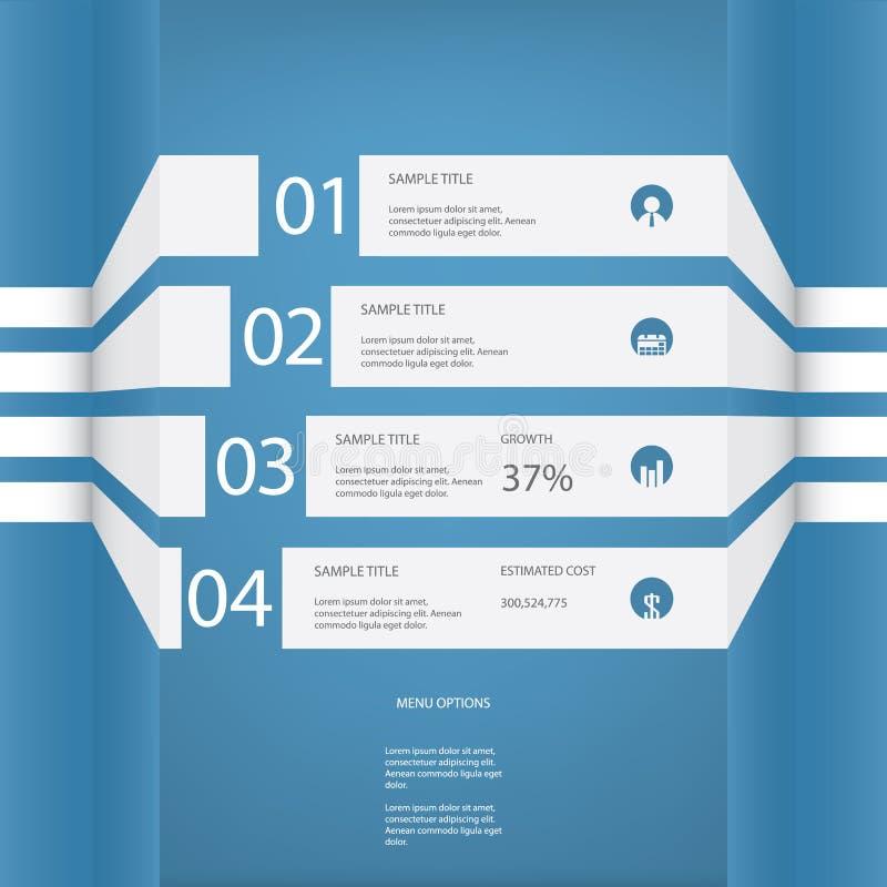 Διανυσματικό σχέδιο επιλογών Infographics με τέσσερις επιλογές διανυσματική απεικόνιση