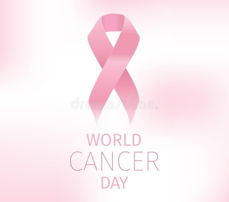 Διανυσματικό σχέδιο ημέρας παγκόσμιου καρκίνου ελεύθερη απεικόνιση δικαιώματος