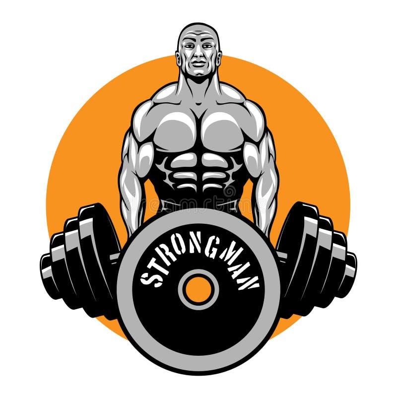Διανυσματικό σχέδιο μπλουζών για τα bodybuilders και την ικανότητα διανυσματική απεικόνιση