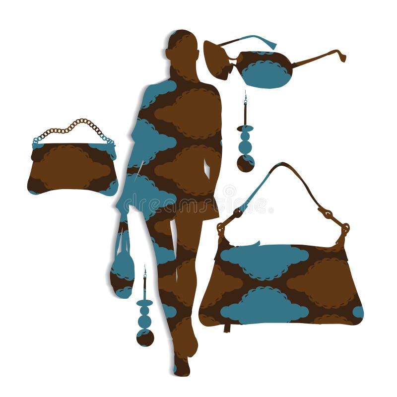Διανυσματικό σχέδιο μόδας απεικόνιση αποθεμάτων