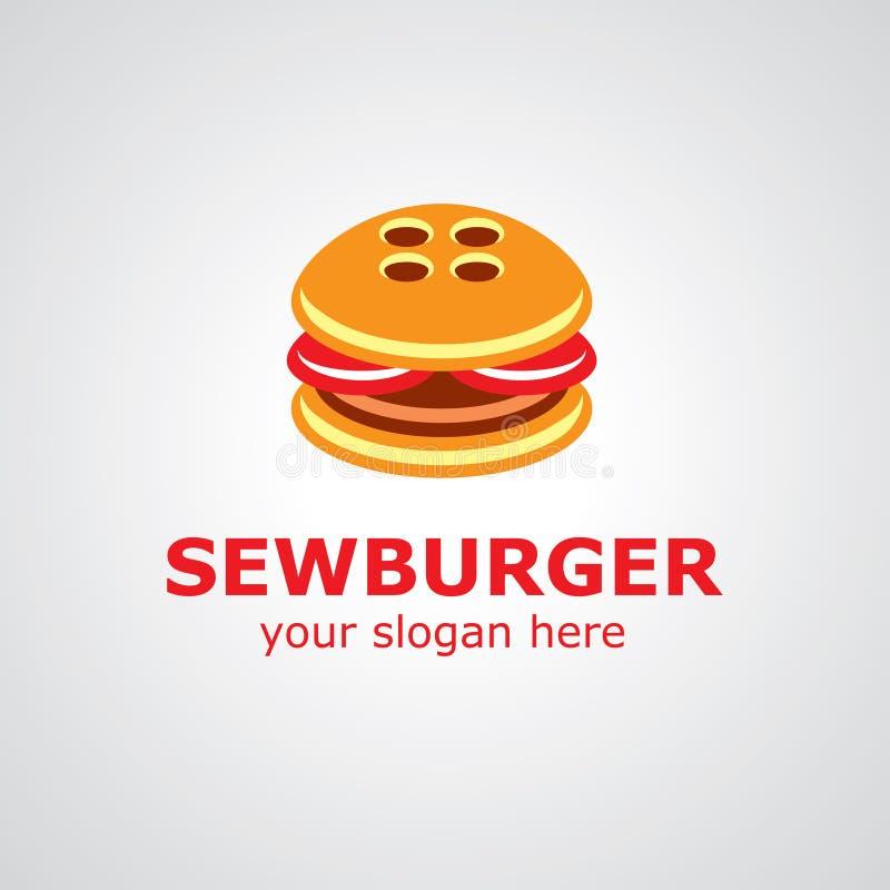 Διανυσματικό σχέδιο λογότυπων Sewburger διανυσματική απεικόνιση