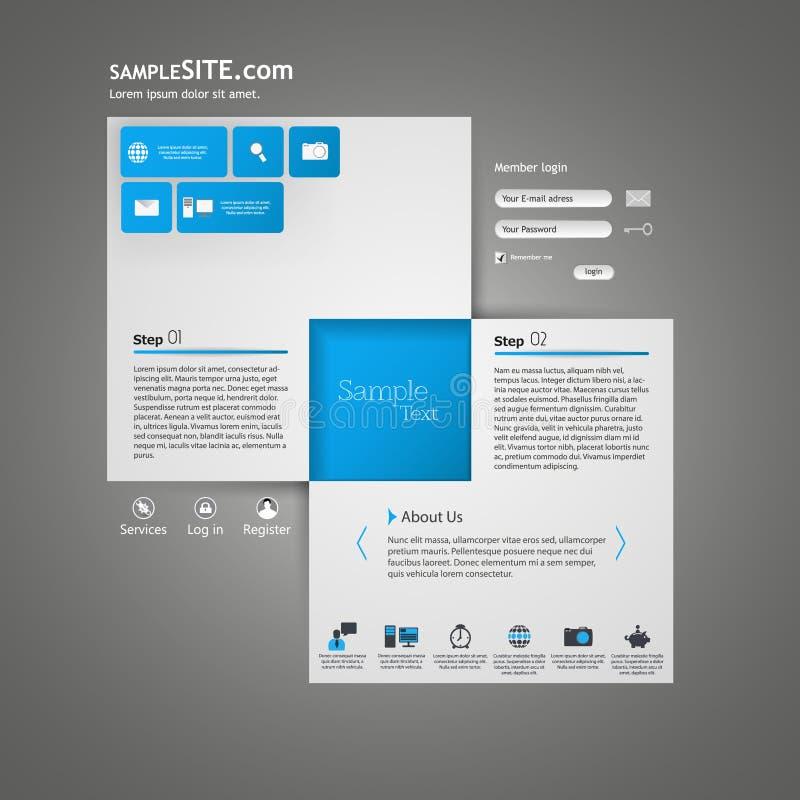 Διανυσματικό σχέδιο προτύπων ιστοχώρου διανυσματική απεικόνιση