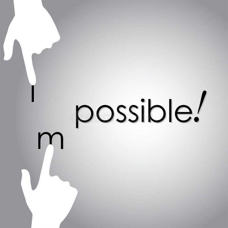 Διανυσματικό σχέδιο του μετασχηματισμού αδύνατο σε πιθανό με το χέρι διανυσματική απεικόνιση