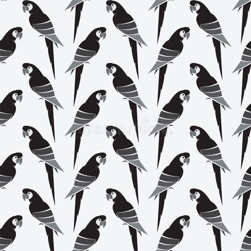 Διανυσματικό σχέδιο υποβάθρου τέχνης παπαγάλων για το ύφασμα και το ντεκόρ διανυσματική απεικόνιση