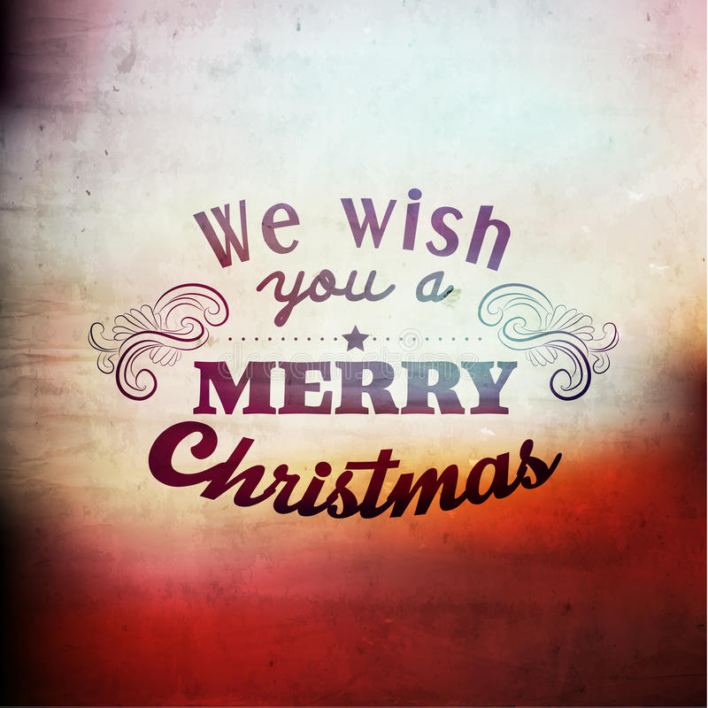 Διανυσματικό σχέδιο χαιρετισμών εποχής Χαρούμενα Χριστούγεννας απεικόνιση αποθεμάτων