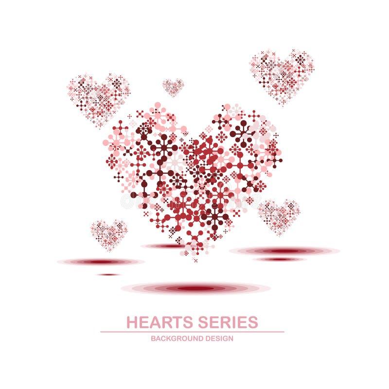 Διανυσματικό σχέδιο IV σειράς καρδιών απεικόνισης διανυσματική απεικόνιση