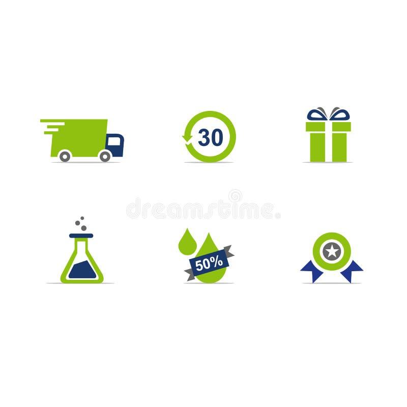 Διανυσματικό σχήμα εικονιδίων ιστοχώρου ηλεκτρονικού εμπορίου ελεύθερη απεικόνιση δικαιώματος