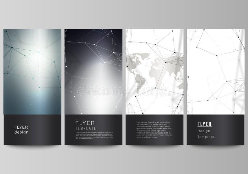 Διανυσματικό σχεδιάγραμμα του ιπτάμενου, πρότυπα σχεδίου εμβλημάτων Φουτουριστικό γεωμετρικό σχέδιο με την παγκόσμια σφαίρα, τις  ελεύθερη απεικόνιση δικαιώματος
