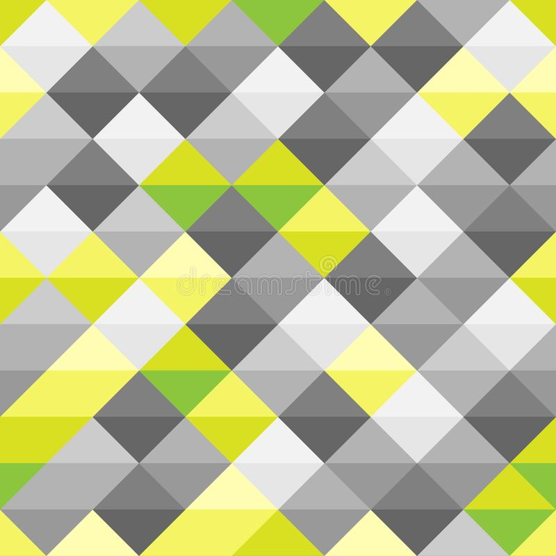 Διανυσματικό σύγχρονο άνευ ραφής ζωηρόχρωμο σχέδιο τριγώνων γεωμετρίας, αφηρημένο γεωμετρικό υπόβαθρο χρώματος, πολύχρωμη τυπωμέν ελεύθερη απεικόνιση δικαιώματος