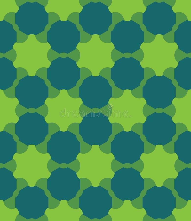 Διανυσματικό σύγχρονο άνευ ραφής ζωηρόχρωμο σχέδιο γεωμετρίας, περίληψη χρώματος ελεύθερη απεικόνιση δικαιώματος