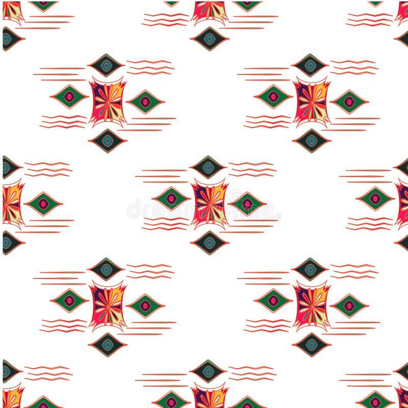 Διανυσματικό σύγχρονο άνευ ραφής ζωηρόχρωμο σχέδιο γεωμετρίας, αφηρημένο γεωμετρικό υπόβαθρο χρώματος, πολύχρωμη τυπωμένη ύλη μαξ διανυσματική απεικόνιση