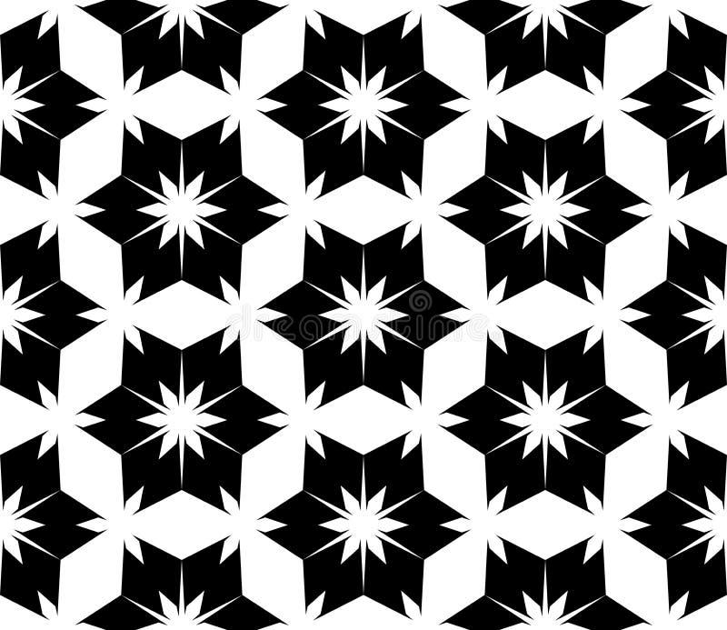 Διανυσματικό σύγχρονο άνευ ραφής floral, γραπτό αφηρημένο γεωμετρικό υπόβαθρο σχεδίων γεωμετρίας ελεύθερη απεικόνιση δικαιώματος