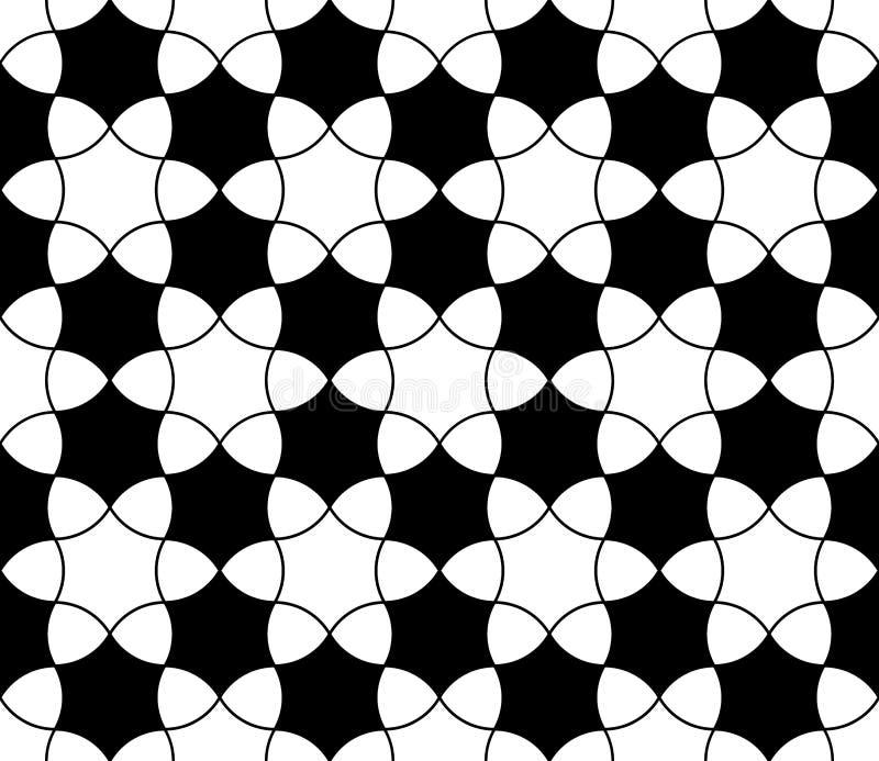 Διανυσματικό σύγχρονο άνευ ραφής snowflake σχεδίων γεωμετρίας απεικόνιση αποθεμάτων