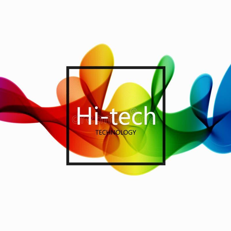 Διανυσματικό σύγχρονο ζωηρόχρωμο αφηρημένο υπόβαθρο υψηλής τεχνολογίας απεικόνιση αποθεμάτων