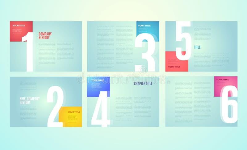 Διανυσματικό σύγχρονο σχέδιο προτύπων χαρτοφυλακίων ελεύθερη απεικόνιση δικαιώματος