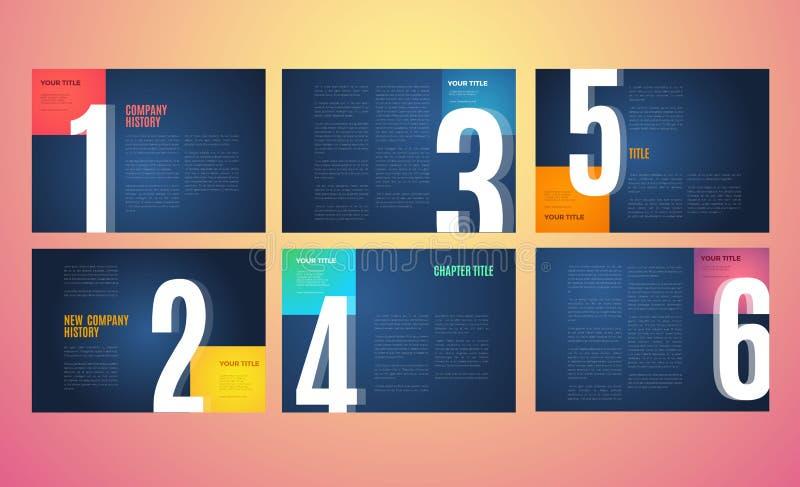 Διανυσματικό σύγχρονο σχέδιο προτύπων χαρτοφυλακίων απεικόνιση αποθεμάτων