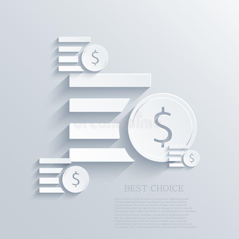Διανυσματικό σύγχρονο υπόβαθρο χρημάτων. Eps 10 διανυσματική απεικόνιση