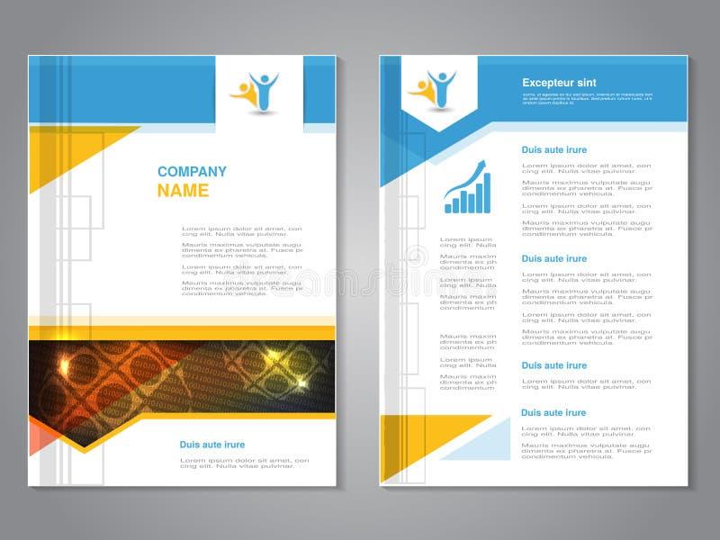 Διανυσματικό σύγχρονο φυλλάδιο με το σχέδιο σφαιρών, αφηρημένο ιπτάμενο με το υπόβαθρο τεχνολογίας Πρότυπο σχεδιαγράμματος Αφίσα  ελεύθερη απεικόνιση δικαιώματος