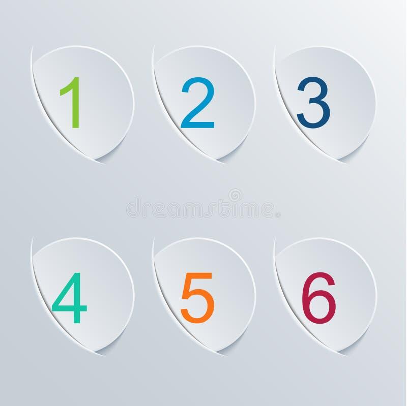 Διανυσματικό σύγχρονο infographic υπόβαθρο κύκλων διανυσματική απεικόνιση