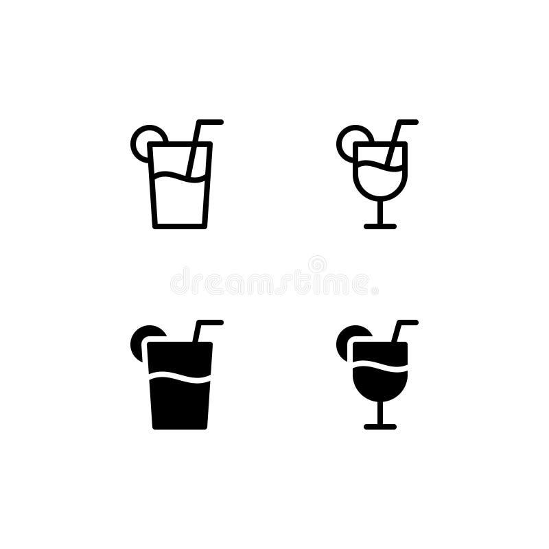 Διανυσματικό σύμβολο λογότυπων εικονιδίων λεμονάδας Εικονίδιο χυμού που απομονώνεται στο άσπρο υπόβαθρο απεικόνιση αποθεμάτων