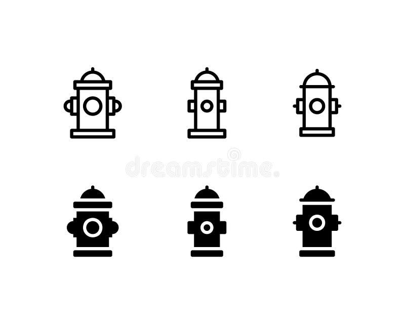 Διανυσματικό σύμβολο λογότυπων εικονιδίων στομίων υδροληψίας πυρκαγιάς Εικονίδιο πυροσβεστών που απομονώνεται στο άσπρο υπόβαθρο διανυσματική απεικόνιση